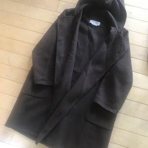 Max Mara Hooded Cashmere brown coat size 4